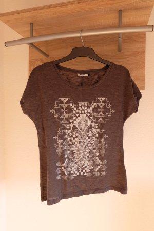 T-Shirt grau mit weißem Aufdruck