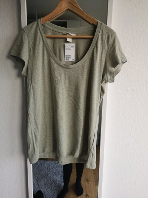 H&M T-shirt grijs-groen