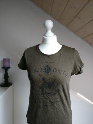 T-Shirt Größe S lefties Free Hugs Festival braun