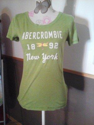 T-shirt grün Abercrombie & Fitch Gr. L süß