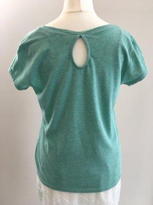 T-Shirt, grün/ glitzer, Clockhouse, Gr. S
