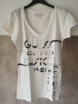 Guess Camiseta blanco-negro