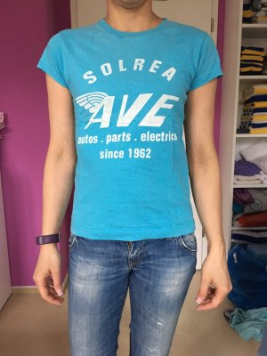 T-Shirt Hellblau mit Aufdruck Gr 34