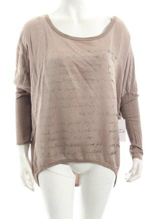 T-Shirt hellbraun Street-Fashion-Look