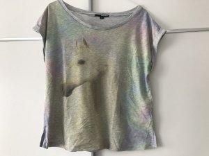 T-Shirt hellgrau mit Einhorn
