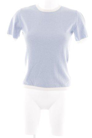 T-Shirt himmelblau-weiß Casual-Look