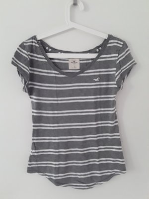 Hollister V-Neck Shirt white-grey