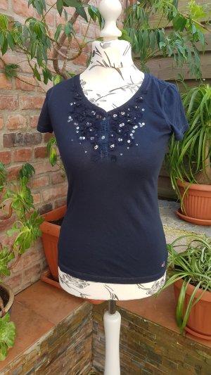 T-Shirt Hollister S dunkelblau