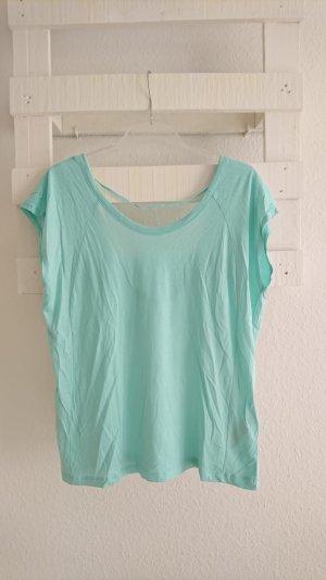 T-Shirt I Zara I Rückenausschnitt I mint I 36 I S