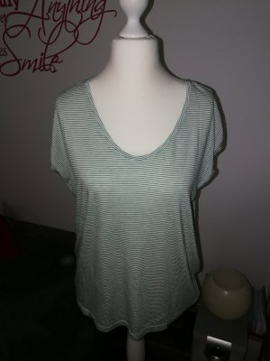 T-Shirt in grün weiß gestreift der Marke Pieces in der Größe XL