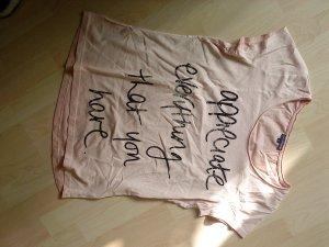 T-Shirt in hellem rose mit Schrift in Größe S von Charles Vögele