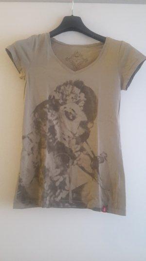 T-Shirt in khaki von Esprit mit Print