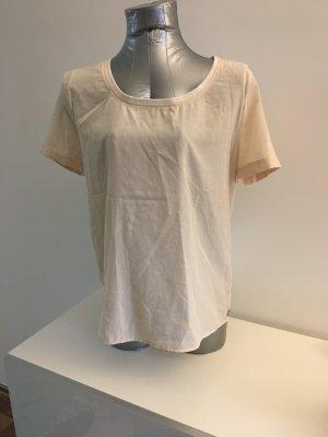 T-Shirt in leichtem Blusenstoff von MAISON SCOTCH, creme mit Sternchen-Beflockung, Gr. 2 / M