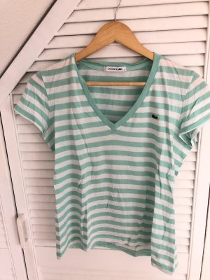 T-Shirt in mintgrün und weiß