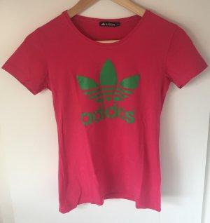 T-Shirt in Pink mit Grün
