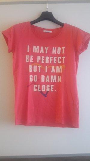 T-Shirt in pink von Only mit Print