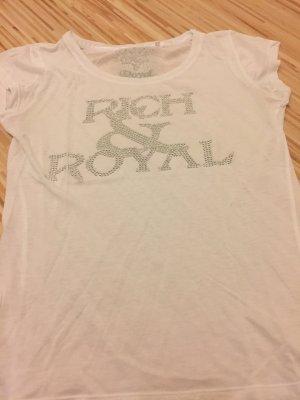 T Shirt in weiß von Rich & Royal