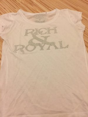 T Shirt in weiß von Rich & Royal