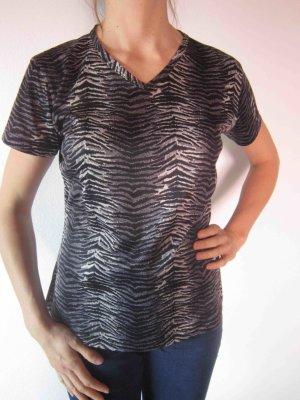 T-Shirt in Zebramuster-anmutendem Look - Animal Print Look