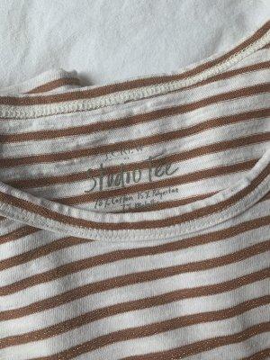 J.crew Gestreept shirt wit-roodbruin