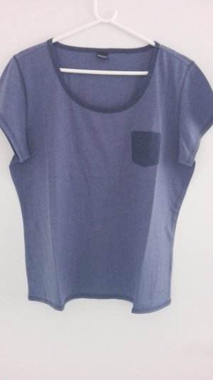 Arizona T-shirt gris ardoise-bleu foncé coton
