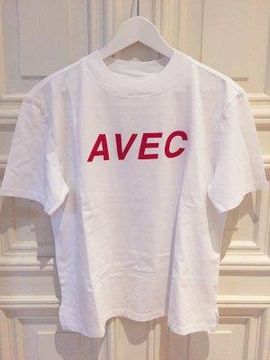 T-Shirt Kauf Dich Glücklich – Suie – avec – M, weiss, rot – NEU!