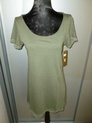 T-Shirt Khaki Made in Italy neu