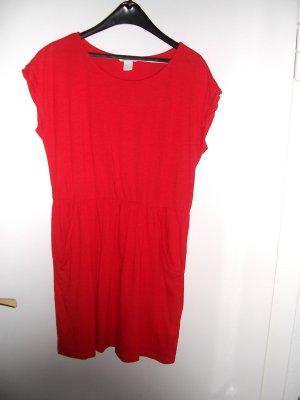 Vestido estilo camisa rojo Algodón