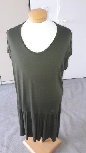 Vestido de tela de sudadera verde oscuro