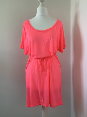 H&M Robe t-shirt rose fluo