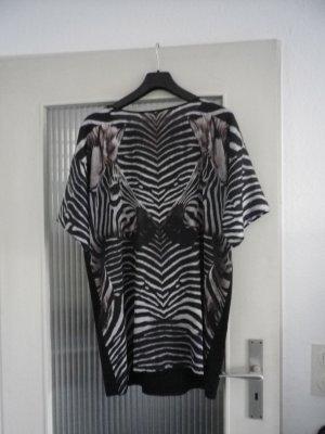 T-Shirt-Kleid mit Zebraufdruck
