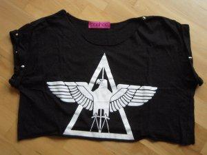 Boohoo Shirt zwart-wit Gemengd weefsel