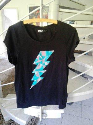 T-Shirt kurzatmig schwarz elastisch