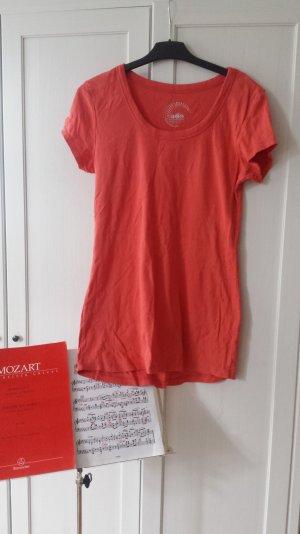 T Shirt lachsrosa lang
