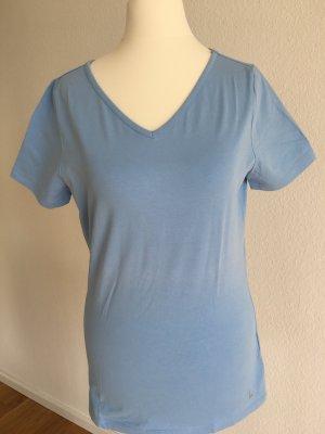 T-Shirt LAUREL Gr. 36 hellblau mit V-Ausschnitt