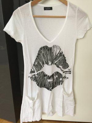 T-Shirt Lauren Moshi mit Taschen weiß XS