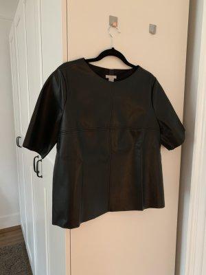 T-Shirt Lederoptik