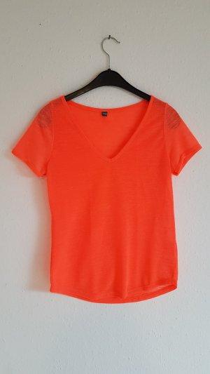 Pimkie Maglia con scollo a V arancio neon-albicocca