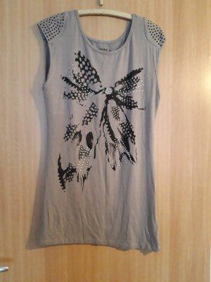 Anne L. T-shirt nero-grigio