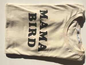 Camiseta crema-negro Algodón