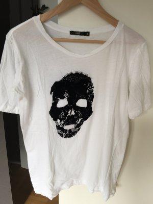 T-Shirt Markus Lupfer S mit Totenkopfprint und Schleife