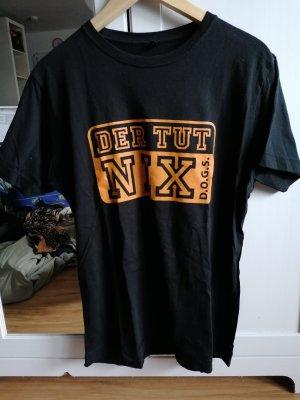 Print Shirt black-orange