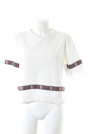 T-Shirt mehrfarbig Boho-Look