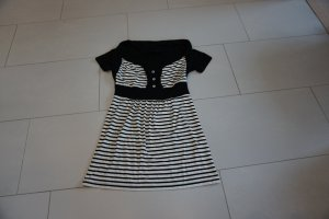 T-Shirt Melrose, schwarz-weiß-gestreift, Größe 36