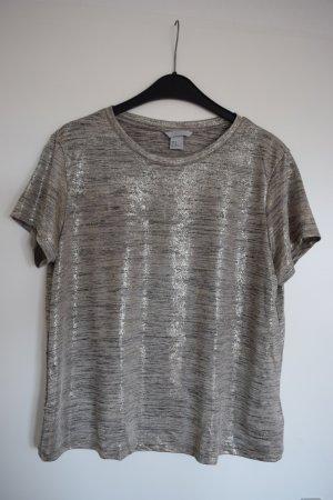 H&M Camiseta color plata-gris claro Licra
