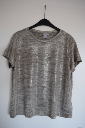 T-Shirt metallic Look
