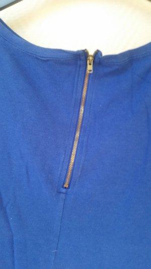 Amisu Shirt blauw Katoen