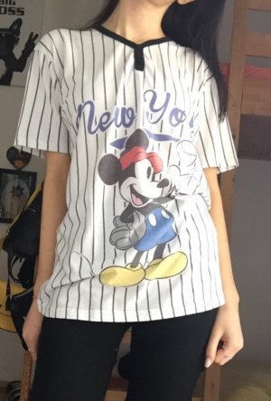 "T Shirt Mickey Mouse Disney schwarz weiß ""New York"""