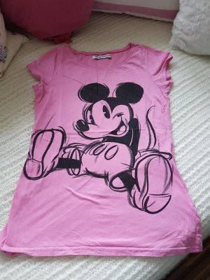 T-shirt Micky Mouse Print, Gr. XS, rosa