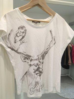 T-Shirt Mint&berry weiß braun s m 34 36